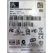Термопринтер Zebra TLP 2844 (выломан USB разъём в Черном, COM и LPT на месте; без БП!) - Черное