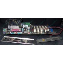 Материнская плата Asus P4PE (FireWire) с процессором Intel Pentium-4 2.4GHz s.478 и памятью 768Mb DDR1 Б/У (Черное)